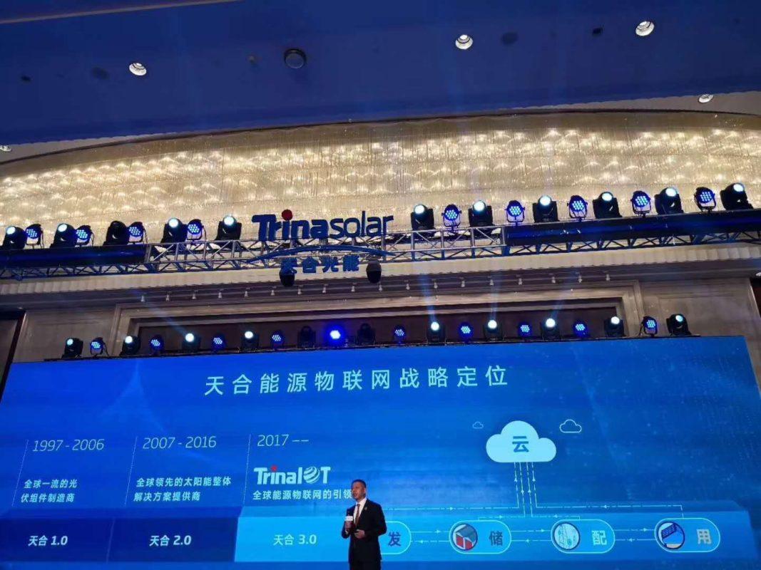 Trina's CEO Jifan Gao at the launch ceremony. Source: Trina Solar.