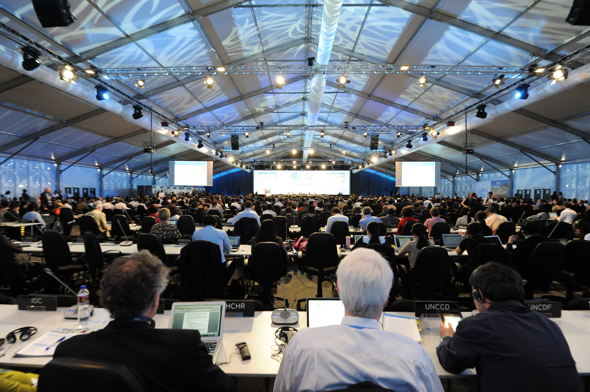 The recent climate talks in Lima, Peru. 'Failure to reach a deal in Paris is not an option'.