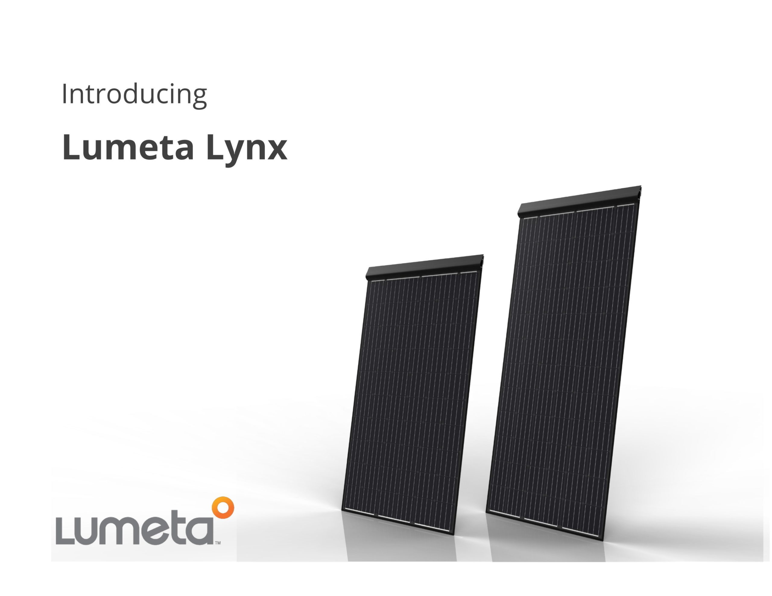 The Lumeta Lynx 72 is a 360W 18.3% efficient module designed for installation on almost all commercial roof systems. Image: Lumeta
