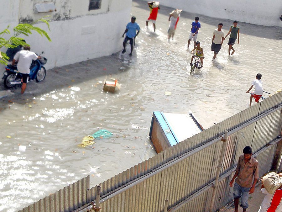 Flooding in the Maldives. The funding demonstrates the critical role renewable energy is playing in developing countries, IRENA said. Image: wikimedia user: oblivious.