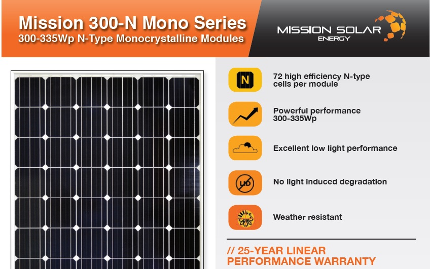 Mission Solar Energy is gearing-up its PV module portfolio to address US residential, commercial and utility-scale markets at the high-efficiency end of market.