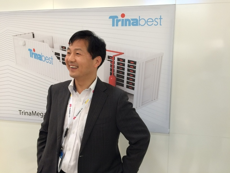New TrinaBEST Japan president Frank Qi at Intersolar Europe in June. Source: Andy Colthorpe