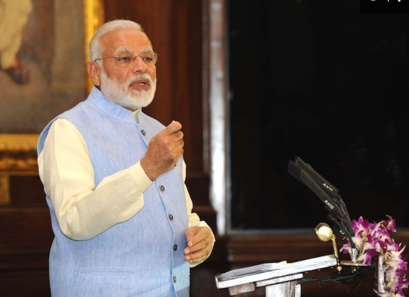 Bridge to India said the GST comes at an unfavourable time with global module prices firming up this quarter. Credit: Narendramodi.in