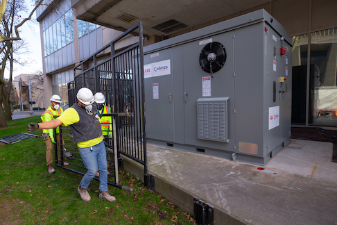 NYPA recently installed a battery storage system aimed at eliminating the fire risk from thermal runaway, piloting Cadenza Innovation's 'Supercell' lithium battery architecture. Image: NYPA.