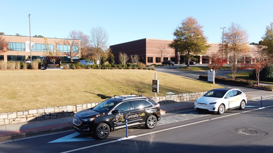 The US' first solar roadway went live in Georgia last week Image: Peachtree Corners
