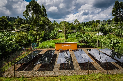 A rural mini-grid project on the African continent by US company Powerhive. Image: Powerhive.