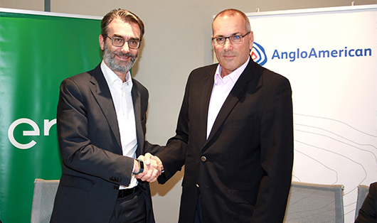 The deal signed with Anglo American is the largest ever renewable supply agreement inked by Enel to date (Credit: Anglo American)