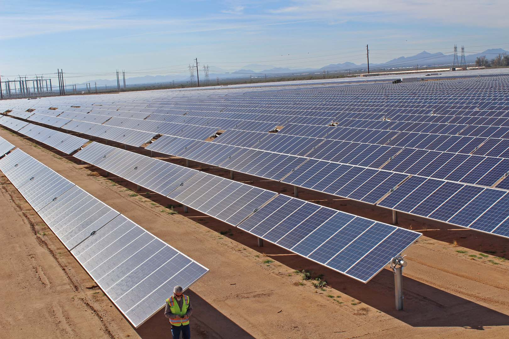 APS developed and will own and operate the 40MW PV plant, located 30 miles south of Casa Grande in Red Rock, Arizona. Source: Business Wire