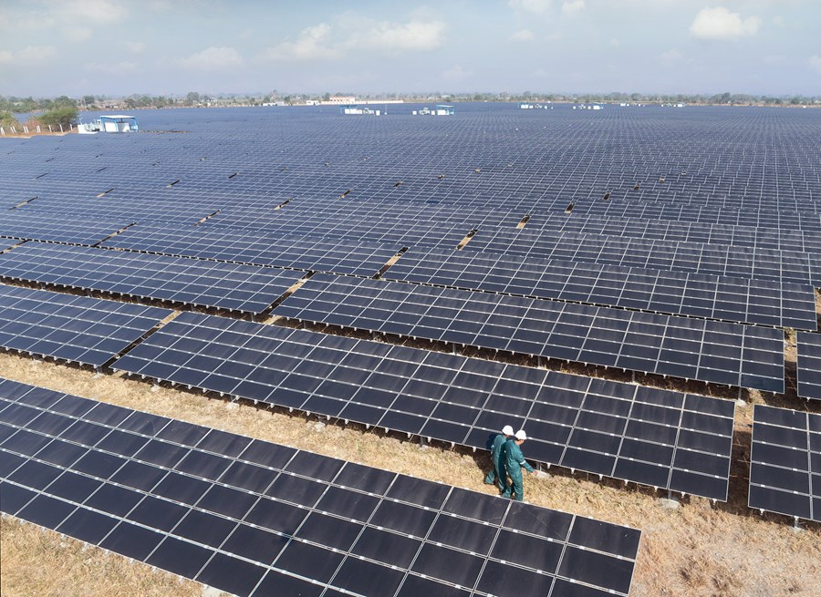 A Sembcorp project in India. The company has a 2.5GW renewable energy pipeline in India, China and Singapore. Credit: Sembcorp Industries.