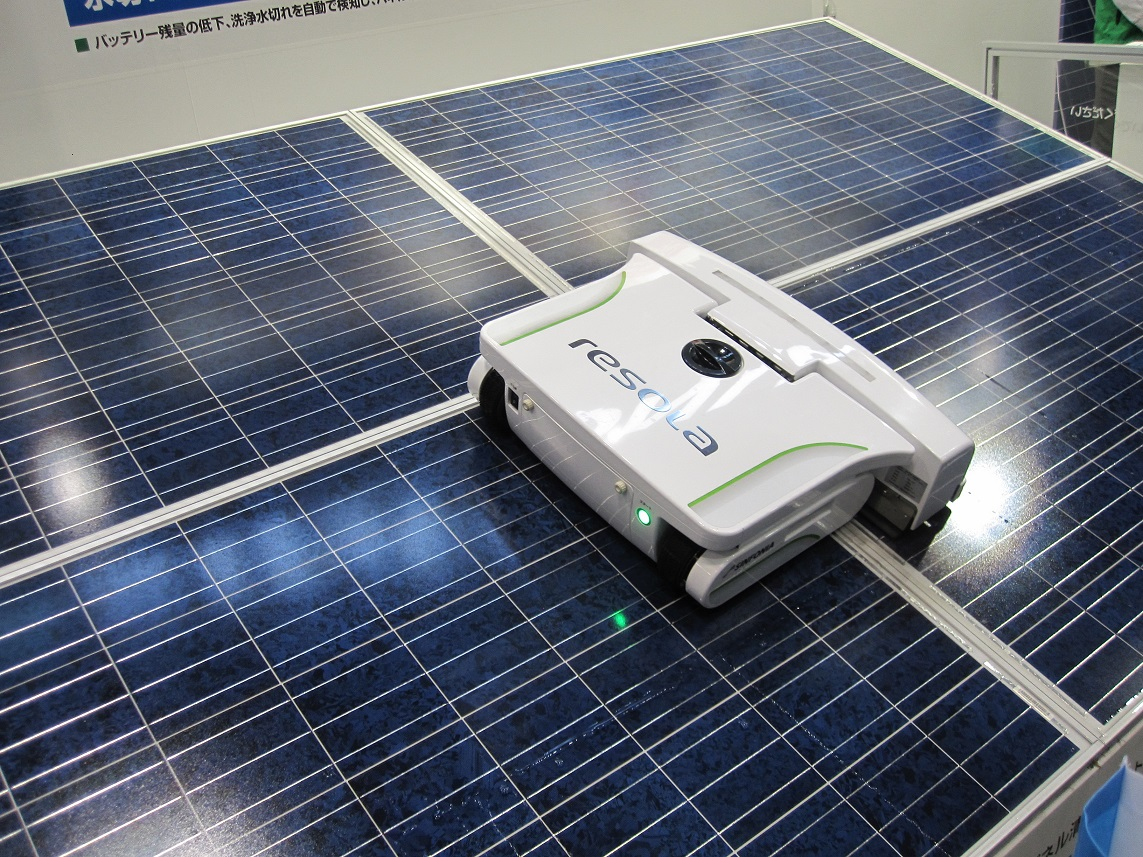 Solar panel cleaning robot from Resola.