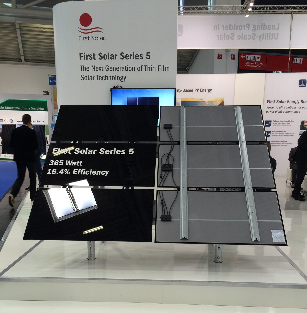 The Series 5 module on display at Intersolar Europe 2016. Source: PV Tech