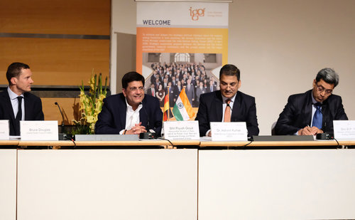 India's energy and mines minister Piyush Goyal issued the spontaneous challenge at Intersolar Europe in Munich. Image:  © Solar Promotion GmbH
