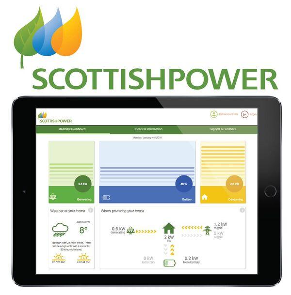 Scottish Power's monitoring 'dashboard', which runs on Moixa's software platform. Image: Moixa.