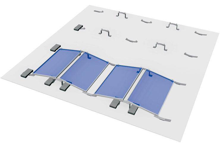 S:FLEX Multiple facing orientation of flatroof PV systems