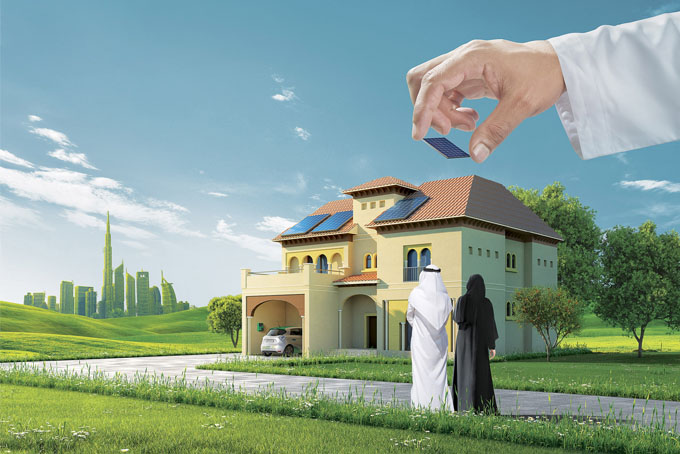 As part of this charter, the Dubai Electricity and Water Authority (DEWA) has launched a project to install PV panels in 10% of the homes of UAE nationals within Dubai and connect them to its grid. Image: DEWA
