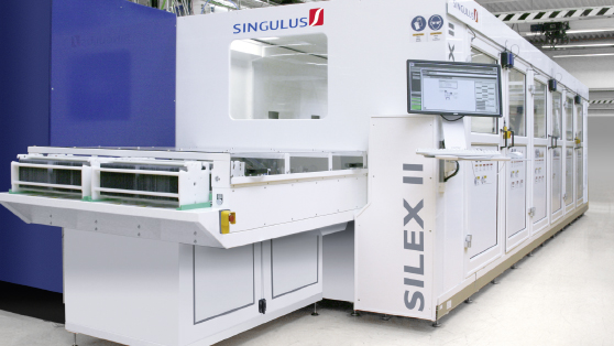 Singulus said it had received new orders for a total of four SILEX II processing systems for manufacturing of high-efficiency solar cells, while further deals for its vacuum coating technology as complementary to its wet processing system were being negotiated. Image: Singulus Technologies
