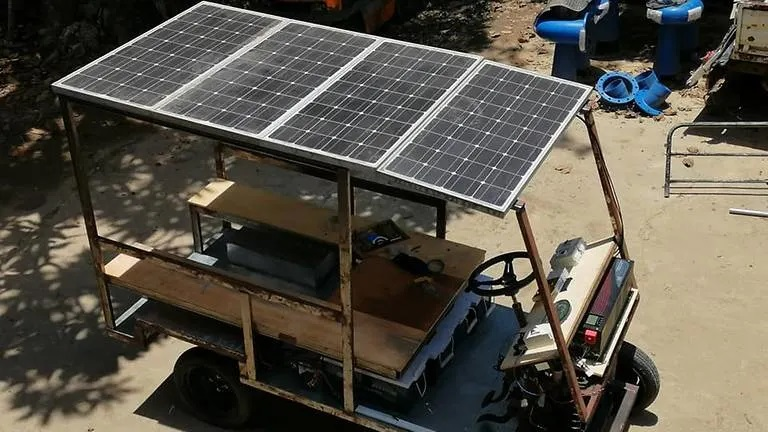 The builder of the PV-powered buggy said he had decided to