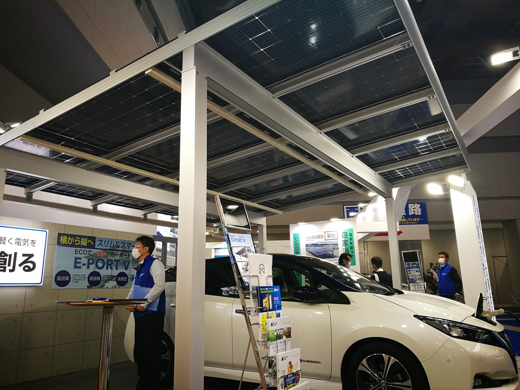 Solar carports have taken longer than expected to take off in Japan. Here's a new version from domestic provider Nichiei Intec.