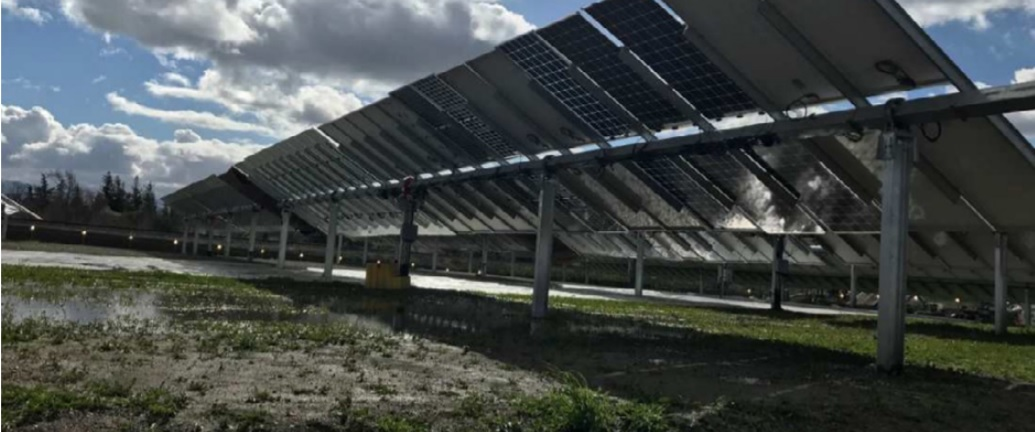 The year-long field test (September of 2018 to September of 2019) highlighted that bifacial modules deployed on its SF7 Bifacial tracker in a 2P configuration exhibit a Bifacial Gain that is 2.1% higher than that of the same modules in 1P configuration. Image: Soltec