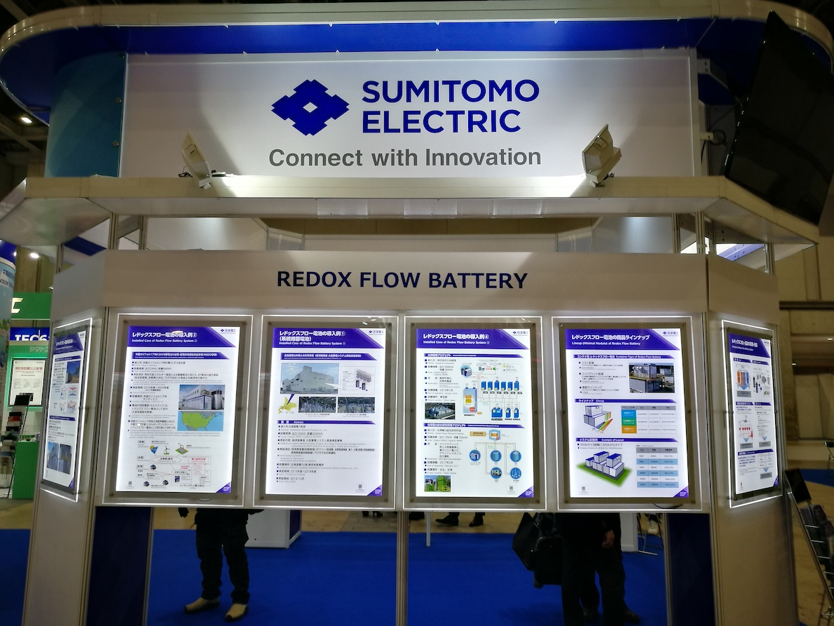 Japan's Sumitomo Electric has to date delivered the world's biggest vanadium redox flow battery: a 60MWh system in Hokkaido, Japan's northernmost of its main islands. Image: Andy Colthorpe / Solar Media