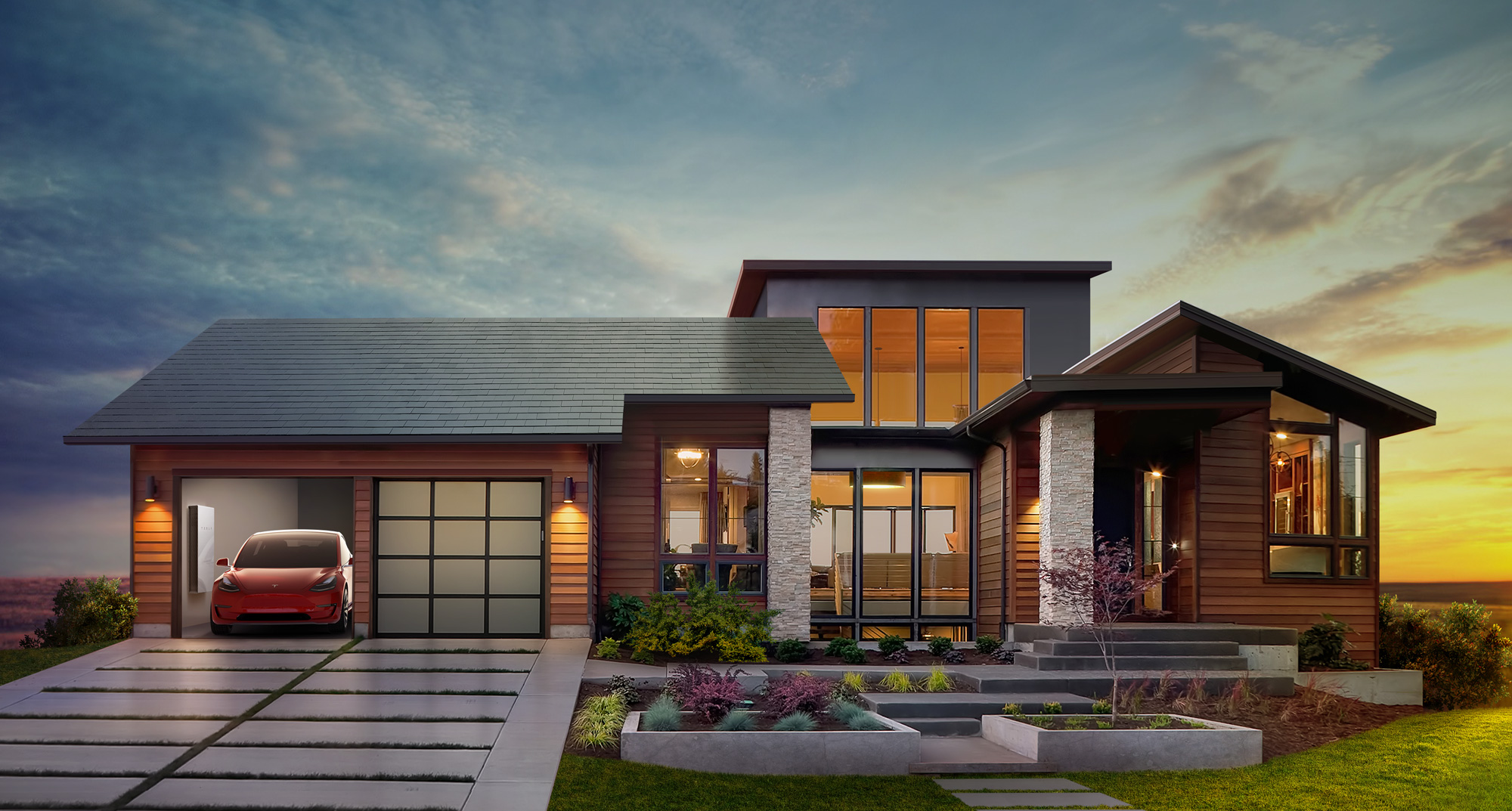 Tesla/SolarCity have announced the launch of a building integrated photovoltaics (BIPV) residential roofing system comprised of a range of different tile formats. Tesla/SolarCity