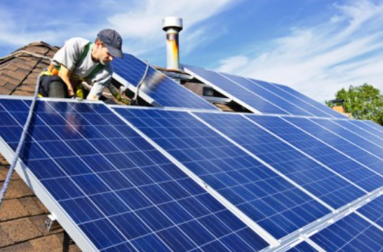 Solar unit TGE solar operates solar projects for utilities, large corporations, schools and churches, municipalities and residences. Credit: Tri Global Energy