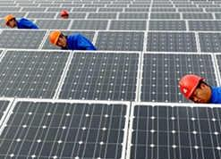 The PV project is expected to generate enough energy to power 30,000 homes. Image: Trina Solar