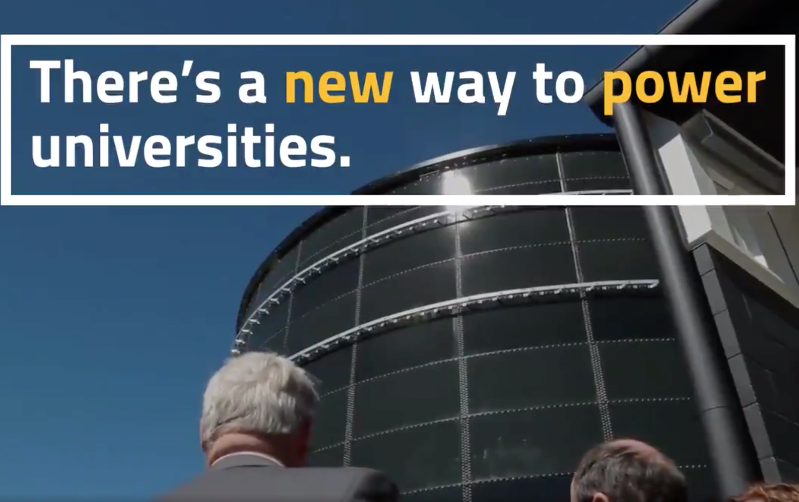 The three-storey tower, dubbed the 'Water Battery', shown in a promo by the University. Image: USC promo video screenshotted via Twitter.