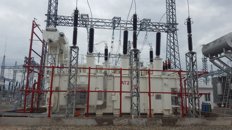 The work of raising the capacity of Thap Cham 220 kV station (in Ninh Thuan) has just been completed and put into operation by the end of October 2019. Credit: MOIT
