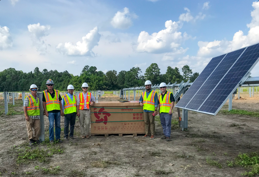 Vikram Solar's Eldora Grand Ultima Silver 72 cell polycrystalline modules are being used at the project site. Credit: Southern Current
