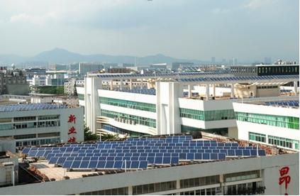 Rooftop solar in Xiamen.
